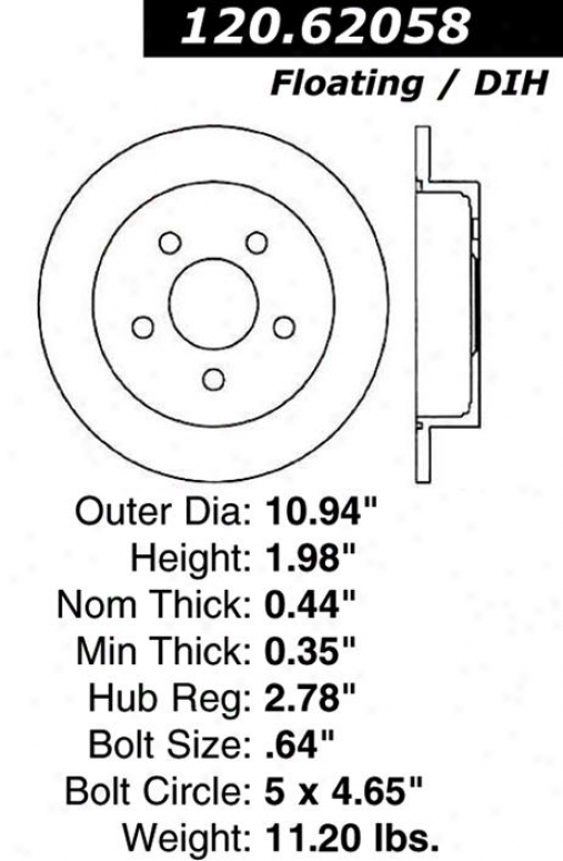 Centric Parts 120.62058 Chevrolet Disc Brake Rotor Hub