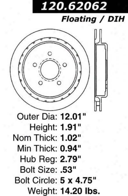 Centric Parts 120.62062 Cadillac Parts