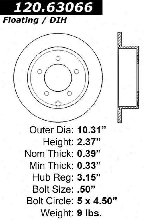 Centric Parts 120.3066 Dodge Quarters
