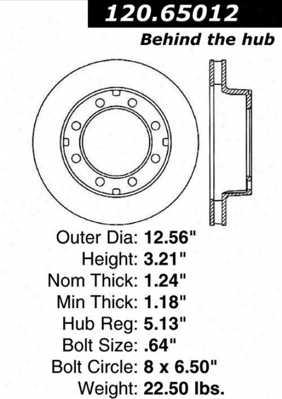 Centric Parts 120.65012 Fore Parts