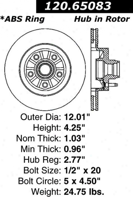 Centric Parts 120.65083 Lincoln Disc Brake Rotor Hub