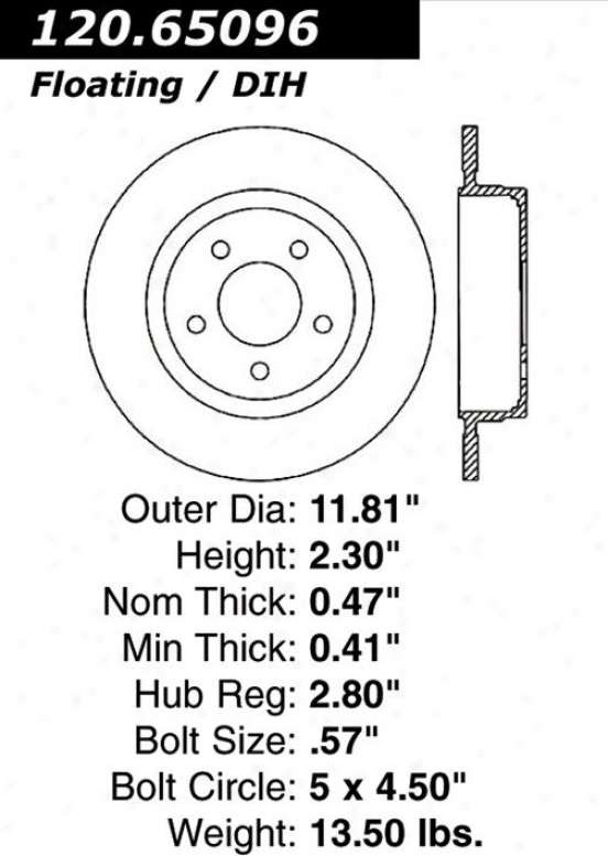 Centric Parts 120.65906 Ford Parts