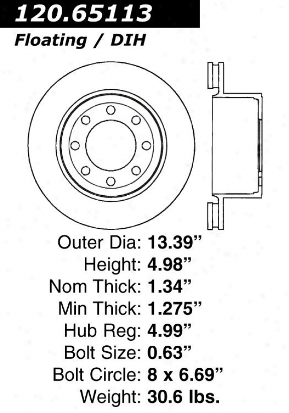 Centric Parts 120.65113 Ford Parts