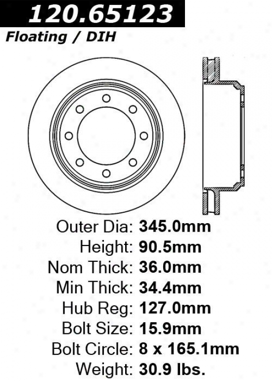 Centric Parts 120.65123 Ford Disc Brake Rotor Hub