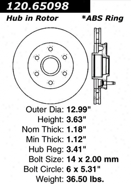 Centric Parts 120.65128 Ford Disc Brake Rotor Hub
