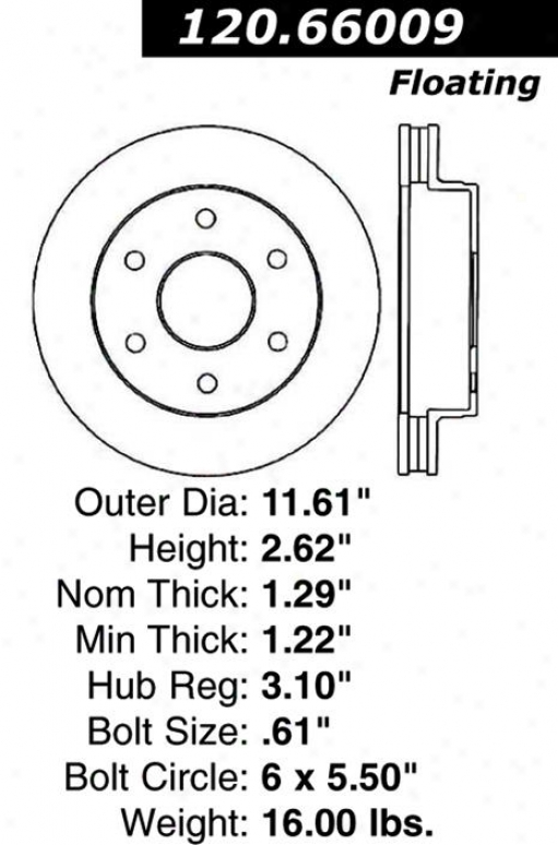 Centric Parts 120.66009 Chevrolet Disc Brake Rotor Hub