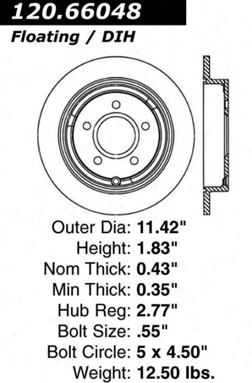 Centric Parts 120.66048 Chevrolet Parts
