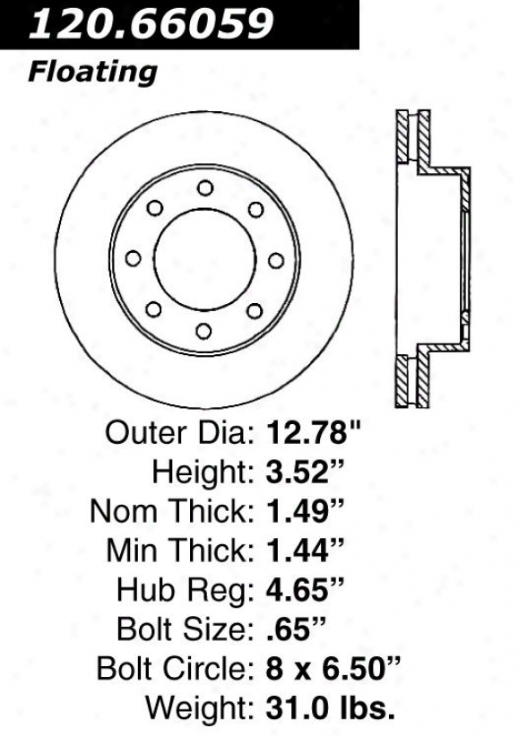 Centric Parts 120.66059 Chevrolet Disc Brake Rotor Hub
