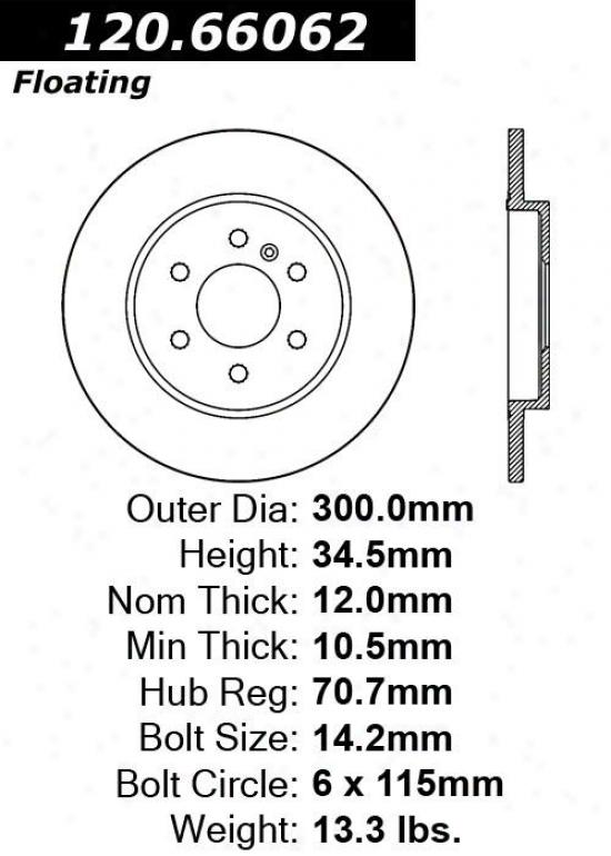 Centric Parts 120.66062 Chevrolet Parts
