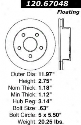 Cebtric Parts 120.67048 Dodge Disc Brake Rotor Hub