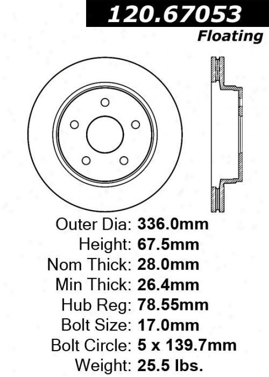 Centric Parts 120.67053 Dodge Disc Brake Rotor Hub