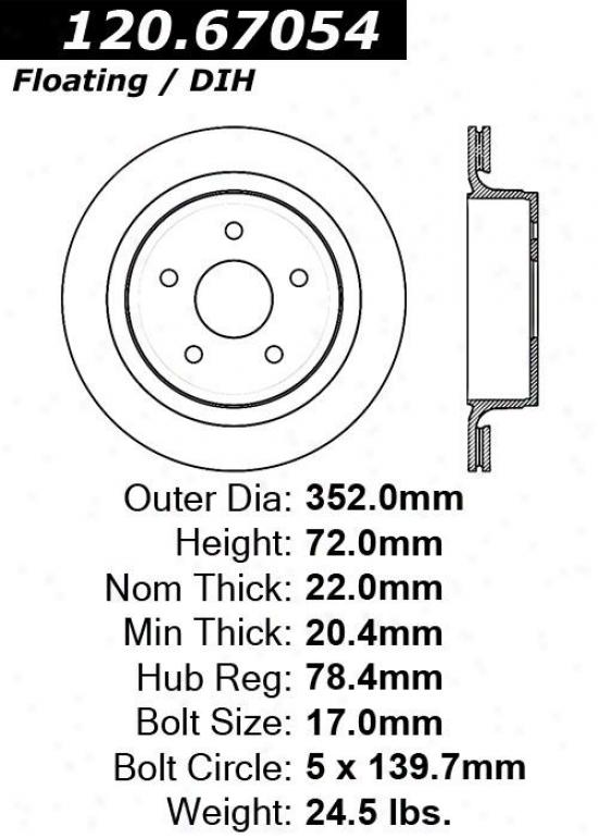 Centric Parts 120.67054 Dodge Dic Brake Rotor Hub