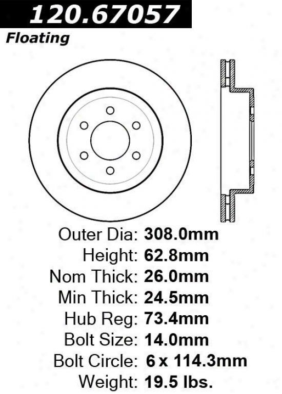 Centric Parts 120.67057 Dodge Parts