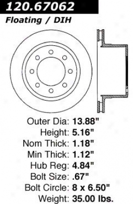 Centric Parts 120.67062 Jeep Disc Brake Rotor Hub