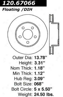 Centric Parts 120.67066 Chrysler Parts