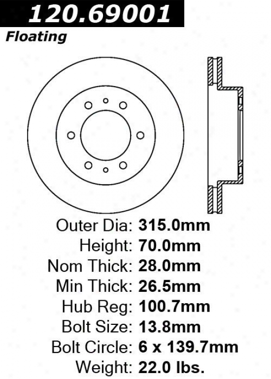 Centric Parts 120.69001 Hummer Parts