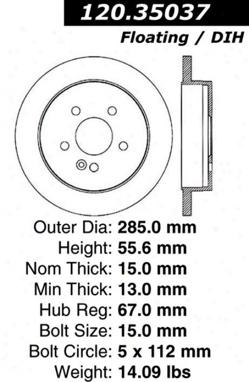 Centric Parts 121.35037 Mercedes-benz Parts