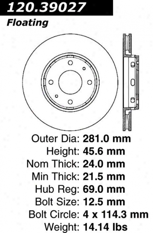 Centric Parts 121.39027 Volvo Parts