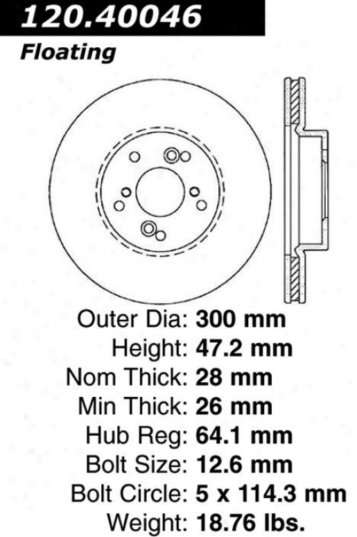 Centricc Parts 121.40046 Acura Disc Brake Rotor Hub