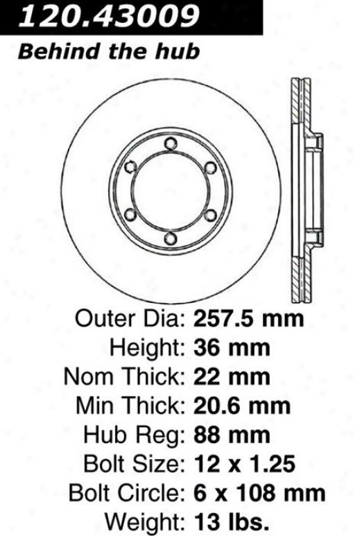 Centric Parts 121.43009 Isuzu Parts
