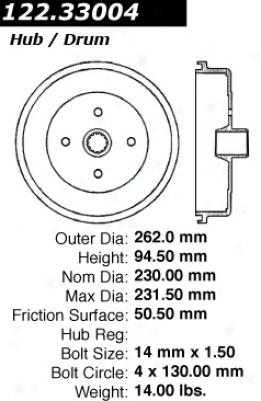 Centric Parts 122.33004 Volkswagen Brake Drums