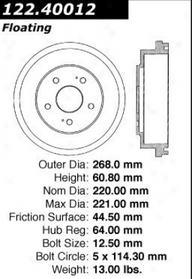 Centric Parts 122.40012 Honda Parts