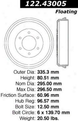 Centric Parts 122.43005 Isuzu Parts