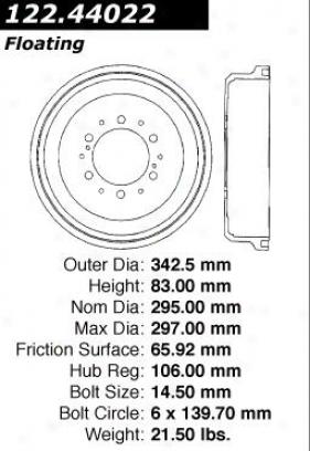 Centric Parts 122.44022 Toyota Parts
