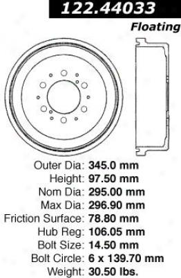 Centric Parts 122.44033 Toyota Parts