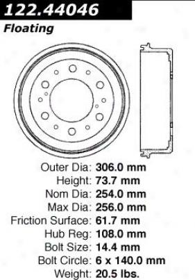 Centric Parts 122.44046 Toyota Parts