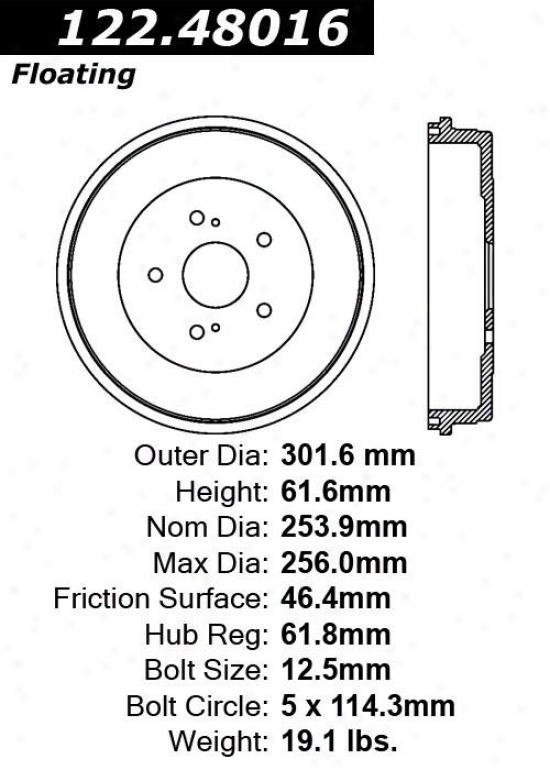 Centric Parts 122.48016 Daewoo Parts