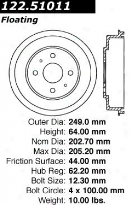 Centric Parts 122.51011 Hyundai Brake Drums