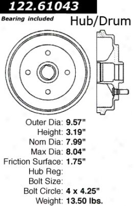 Centric Parts 122.61043 Ford Parts