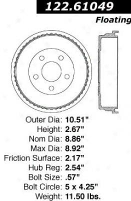 Centric Parts 122.61049 Chevrolet Parts