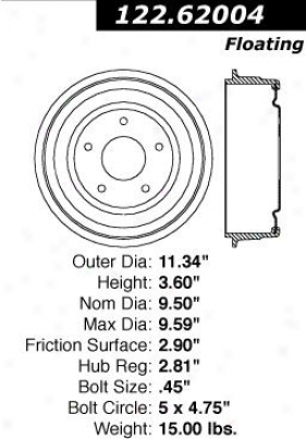 Centric Parts 122.62004 Oldsmobile Parts