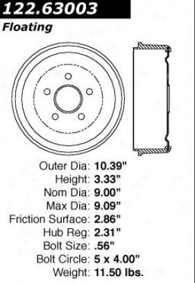 Centric Parts 122.63003 Dodge Par5s