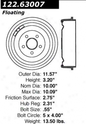 Centric Parts 122.63007 Dodge Brake Drums