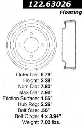 Centric Parts 122.63026 Jeep Parts