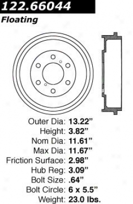 Centric Parts 122.66044 Dodge Parts