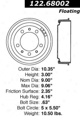 Centric Parts 122.68002 Honda Parts