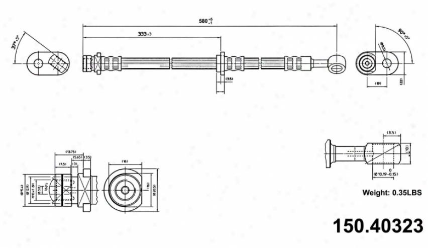 Centric Parts 150.40323 Acura Parts
