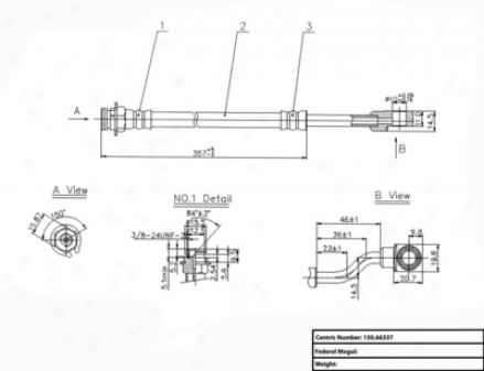 Centric Parts 150.66337 Gmc Quarters