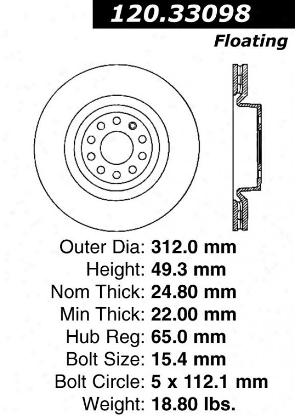 Ctek By Centric 121.33098 Audi Parts