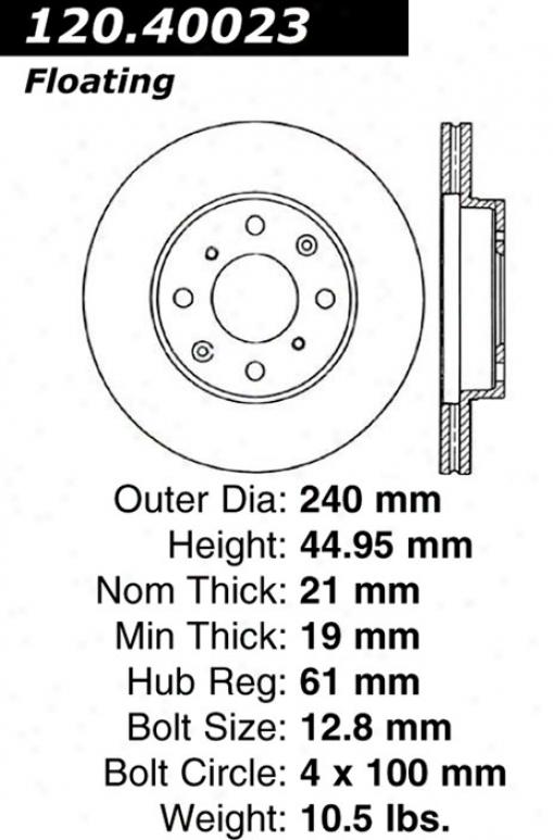 Ctek By Centric 121.40023 Honda Parts