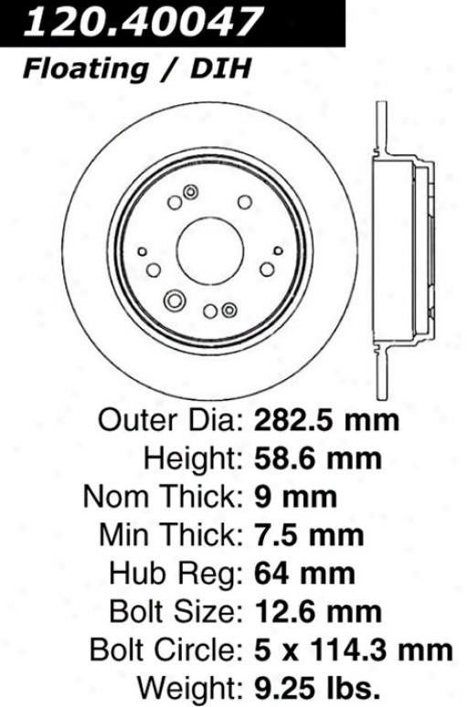 Ctek By Centric 121.40047 Honda Parts