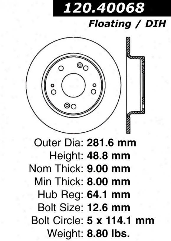 Ctek By Centric 121.40068 Honda Parts