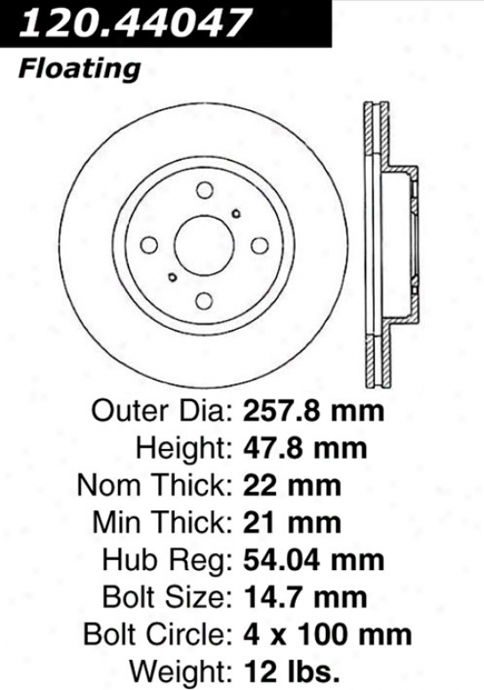 Ctek By Centric 121.44047 Toyota Parts