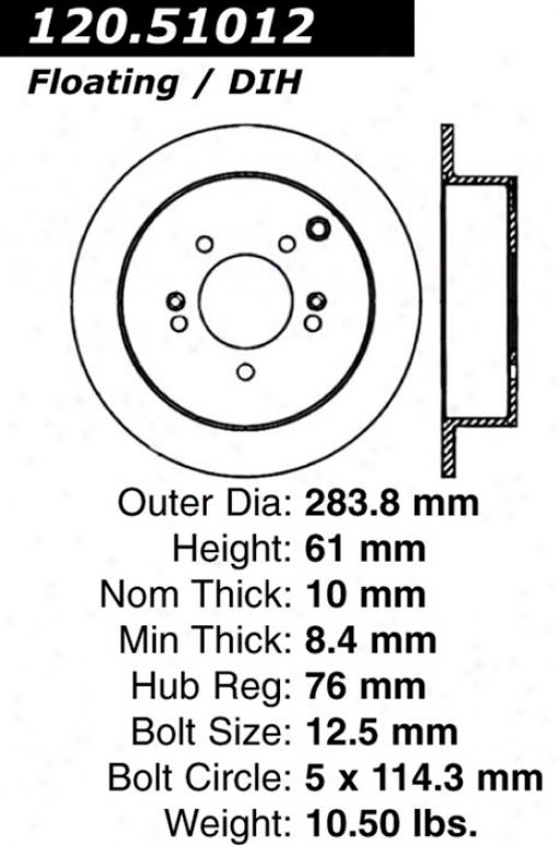 Ctek By Centric 121.51012 Hyundai Parts