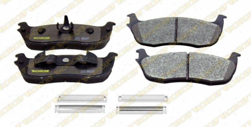 Monroe Premium Brake Padw Cx711 Cadillac Ceramic Brake Pads