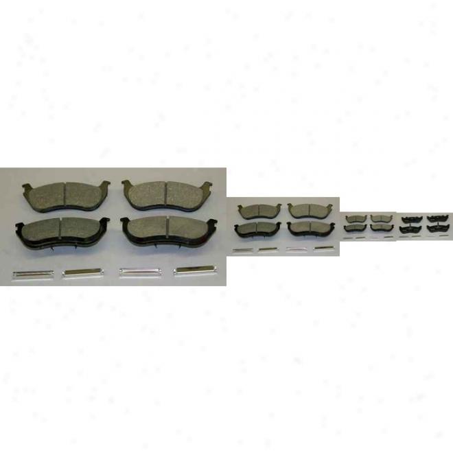 Monroe Premium Brake Pads Cx881a Chevrolet Ceramic Brake Pads